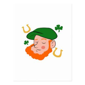 Irishman Head Postcard