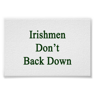 Irishmen Don't Back Down Poster