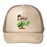 Irishmen Holding Shamrock Trucker Hat