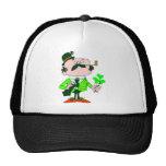 Irishmen Holding Shamrock Trucker Hats