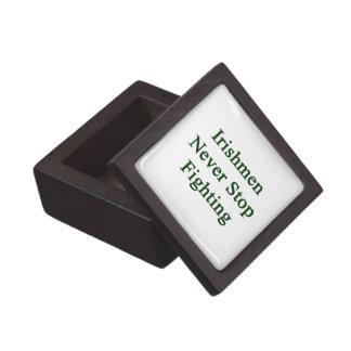 Irishmen Never Stop Fighting Premium Trinket Boxes