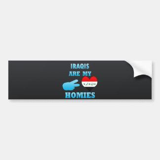 Irishs are my Homies Car Bumper Sticker