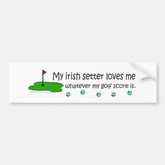 IrishSetter Car Bumper Sticker