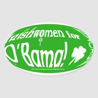 Irishwomen for O'bama 2012 Oval Sticker