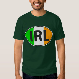 IRL Oval With Flag Tshirts
