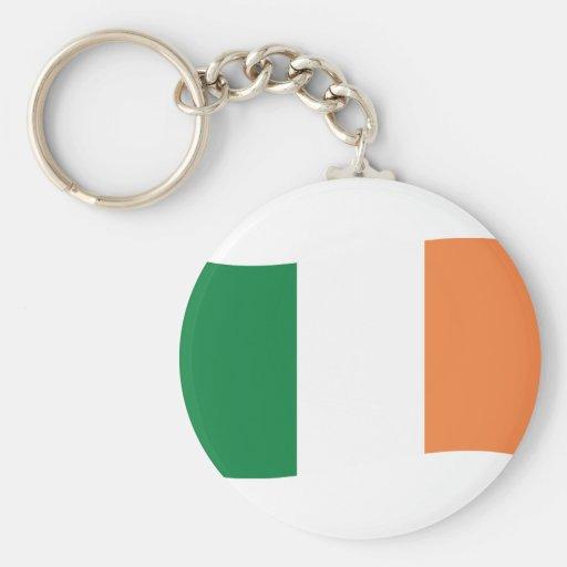 irland flag basic round button keychain