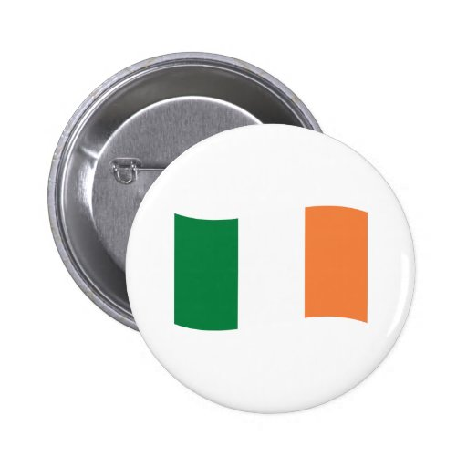 irland flag pinback button