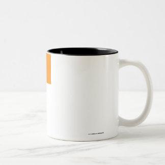 Irland Flagge mit Namen Two-Tone Coffee Mug