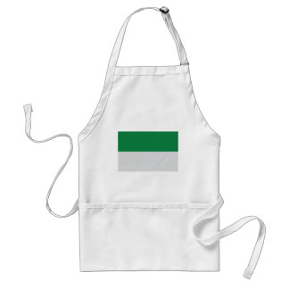 irland green white adult apron