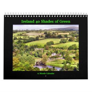 Irlanda 40 sombras de calendario verde