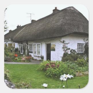 Irlanda, Adare. cabaña del Cubrir con paja-tejado Etiqueta