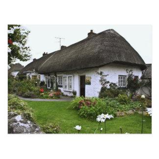 Irlanda, Adare. cabaña del Cubrir con paja-tejado Tarjeta Postal