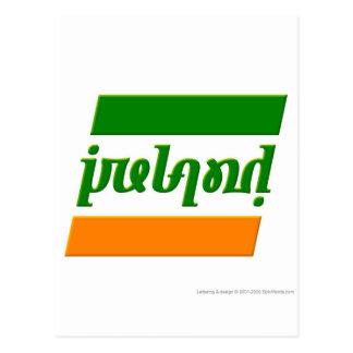 """""""Irlanda"""" Ambigram Tarjetas Postales"""