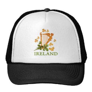 Irlanda - arpa del irlandés del oro gorras