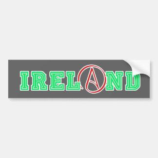 Irlanda atea pegatina para auto