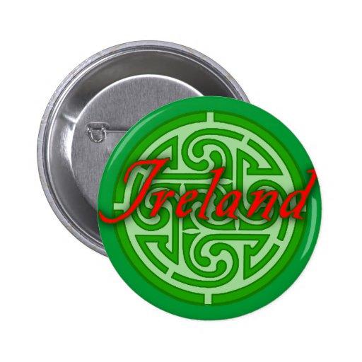 Irlanda con el círculo céltico pin