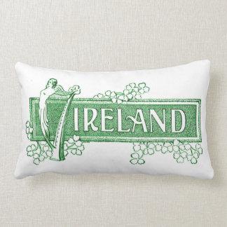 Irlanda con la arpa irlandesa cojines