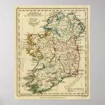 Irlanda con los límites resumidos póster