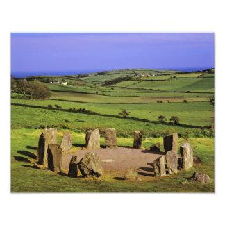Irlanda, corcho del condado. La piedra de Dromberg Cojinete