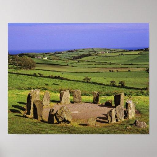 Irlanda, corcho del condado. La piedra de Dromberg Posters