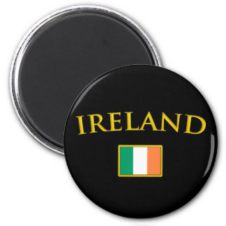 Irlanda de oro imán redondo 5 cm