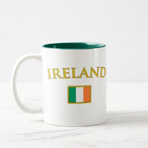 Irlanda de oro taza dos tonos