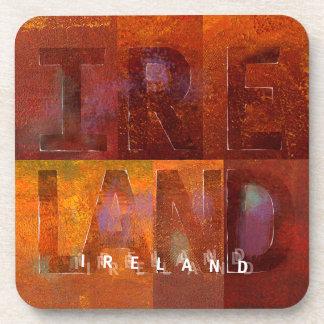 """Irlanda (diseño de los """"cuadrados"""") posavasos"""