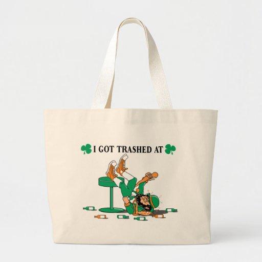 Irlanda divertida bolsa tela grande
