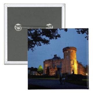 Irlanda, el castillo de Dromoland se encendió en l Pin Cuadrada 5 Cm
