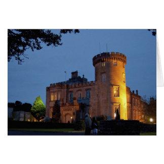 Irlanda, el castillo de Dromoland se encendió en l Tarjeta De Felicitación