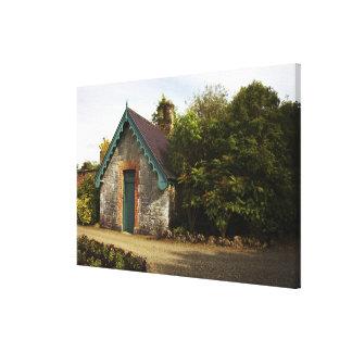 Irlanda, el jardín emparedado castillo de Dromolan Impresiones En Lona Estiradas