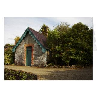 Irlanda, el jardín emparedado castillo de Dromolan Tarjeta De Felicitación