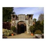 Irlanda, el jardín emparedado castillo de Dromolan Tarjetas Postales