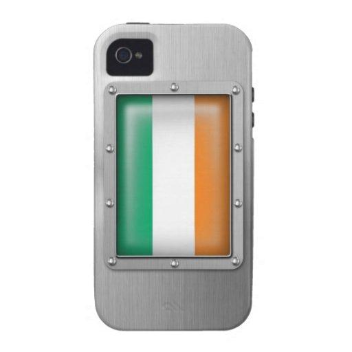 Irlanda en acero inoxidable iPhone 4 carcasa