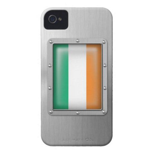 Irlanda en acero inoxidable Case-Mate iPhone 4 cobertura