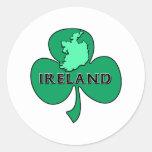 Irlanda Etiquetas Redondas