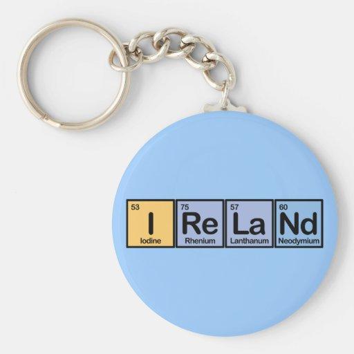 Irlanda hizo de elementos llavero redondo tipo pin