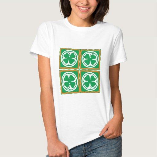 Irlanda hoja de trébol Eire país de irlandés shamr Tshirts