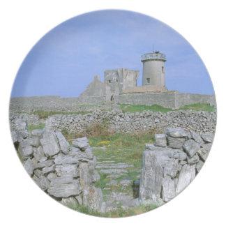 Irlanda, Inishmore, isla de Aran, fuerte de Aengus Plato De Comida
