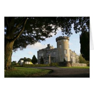 Irlanda, la entrada lateral del castillo de Dromol Tarjeta De Felicitación