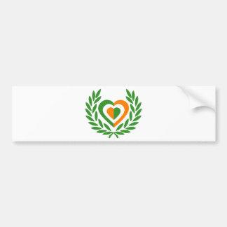 irlanda-laurel-heart-2 bumper sticker