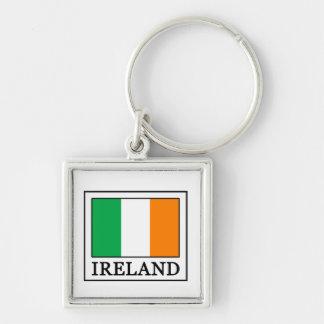 Irlanda Llavero Cuadrado Plateado