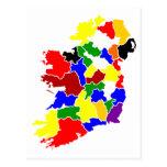Irlanda-Mapa Tarjetas Postales