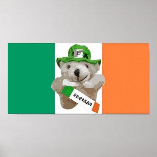 Irlanda, oso de peluche irlandés del Leprechaun, b Poster