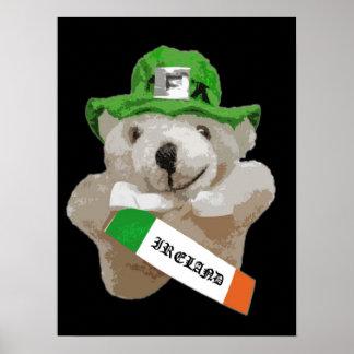 Irlanda, oso de peluche irlandés del Leprechaun, n Impresiones