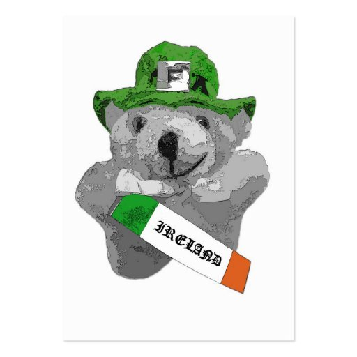 Irlanda, oso de peluche irlandés del Leprechaun, p Tarjetas De Visita