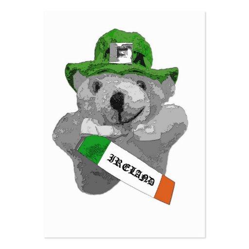 Irlanda, oso de peluche irlandés del Leprechaun, Tarjetas De Visita Grandes
