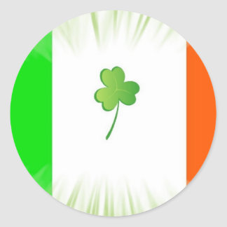 Irlanda para siempre pegatina redonda
