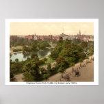 Irlanda - parque verde de Stephens, ciudad de Dubl Posters
