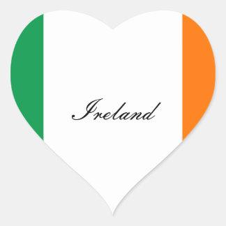 Irlanda Pegatina En Forma De Corazón